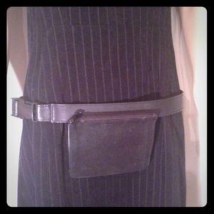 Chicos Leather Pocket Belt
